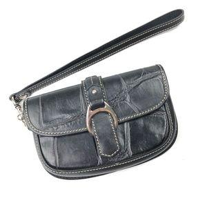 Dooney & Bourke   Crocodile Black Leather Wallet